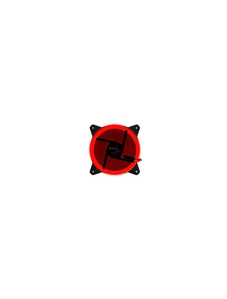 Ventilador AEROCOOL 12x12 Led Rojo (Rev Red)