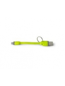 Cable lightning CELLY 12cm Verde coche (USBLIGHTKEYGN)