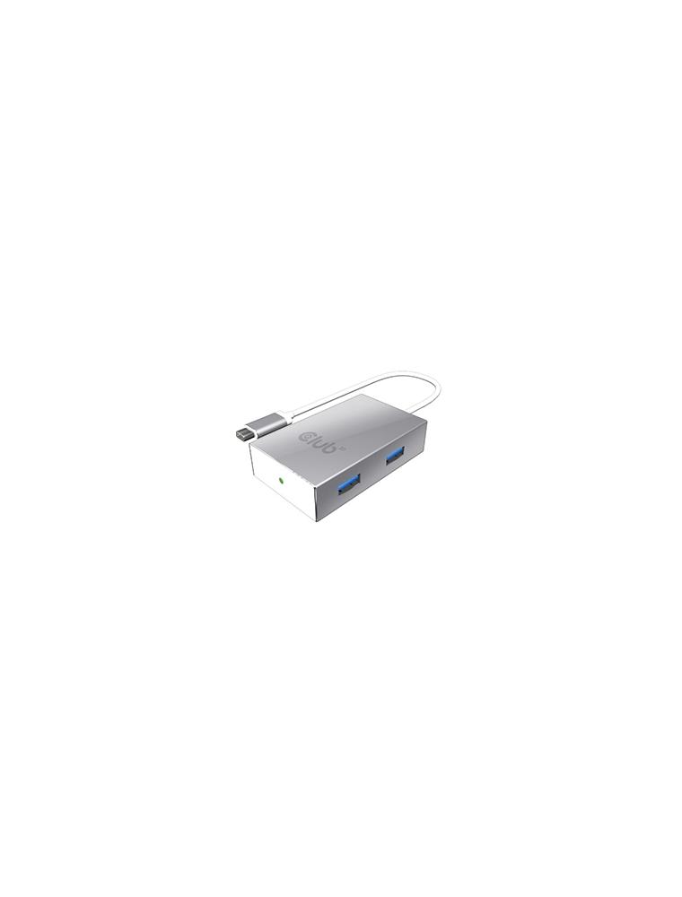 Hub Club 3D USB3.0 C a 4 USB A Datos y Carga (CSV-1541)