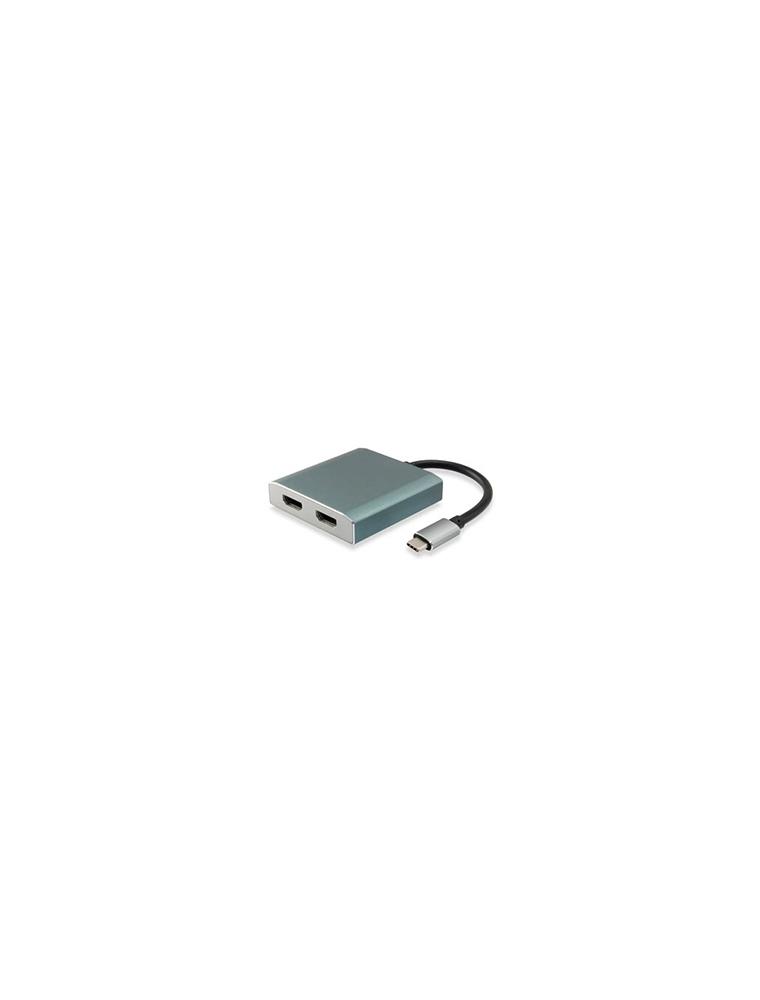 Adaptador EQUIP USB-C a 2HDMI 15cm (EQ133464)