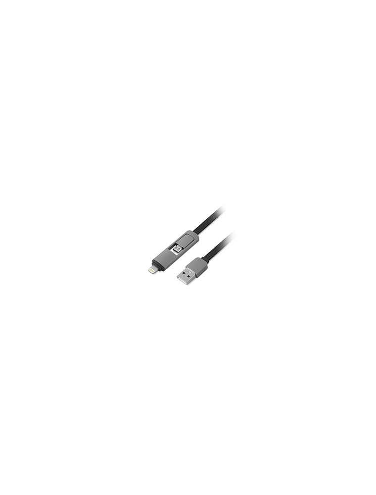 Cable alimentacion 1LIFE USB2 2en1 (1IFEPA2IN1FLAT)