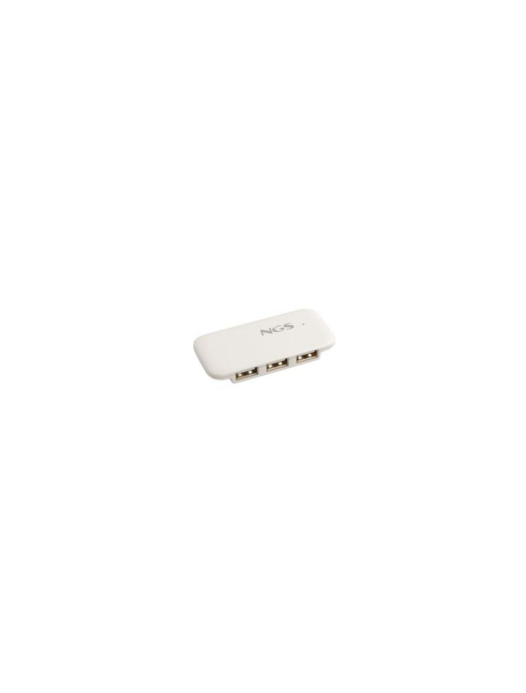 Hub NGS 4 Puertos USB2.0 Blanco (IHUB4)