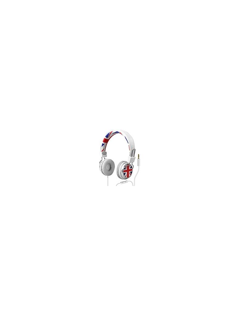 Auriculares SBS DJ PRO Blanco UK (TTHEADPHONEDJUK)