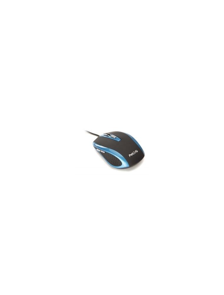 Ratón NGS Óptico USB Azul (TICK BLUE)