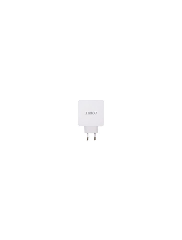 Cargador pared TOOQ USB-C+USB-A  Blanco (TQWC-2SC03WT)