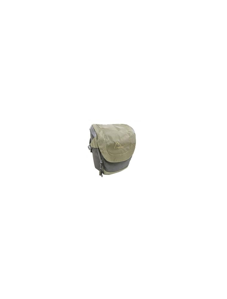 Bolso bandolera y asa AERFEIS Gris/verde (NB-0250)